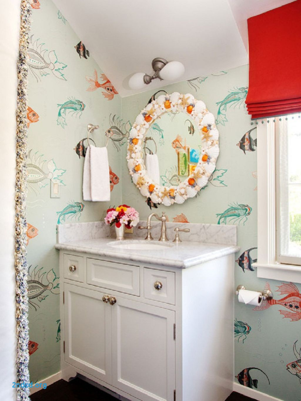 Cool Unique Beach Inspired Bathroom Mirrors - 2Ndcd : 2Ndcd regarding Beach Themed Bathroom Mirrors