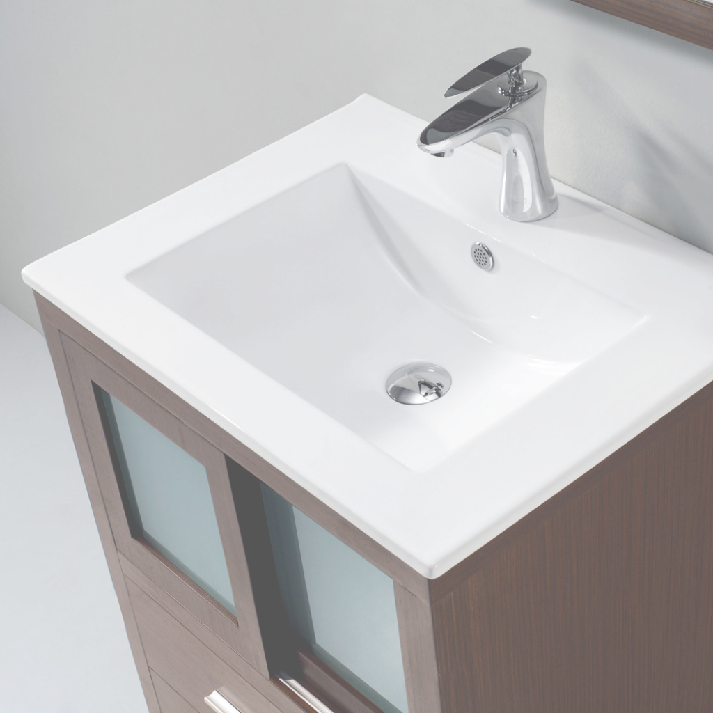 Cool Vigo Alessandro 24 Inch Bathroom Vanity, Contains One White Top regarding Best of Bathroom Vanity Tops With Sink