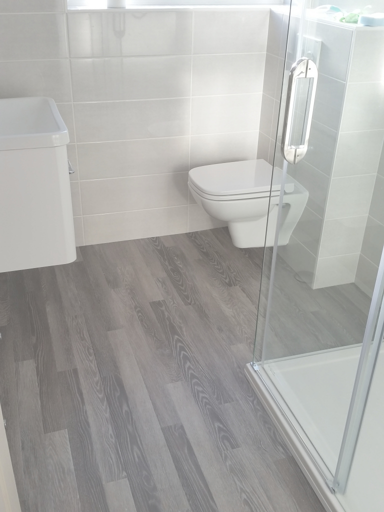 Cool Vinyl Plank Flooring That39S Waterproof Lays Right On Top Handicap intended for Vinyl Flooring For Bathroom