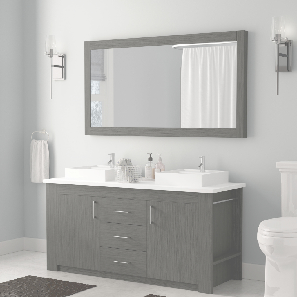 "Cool Wade Logan Glen Ridge 60"" Double Bathroom Vanity Set With Mirror inside Best of Bathroom Vanity Set With Mirror"