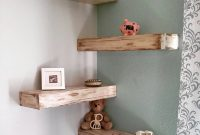 Cool White Rustic Shabby Chic Floating Shelf 60 Inch. intended for Elegant Corner Shelves For Living Room