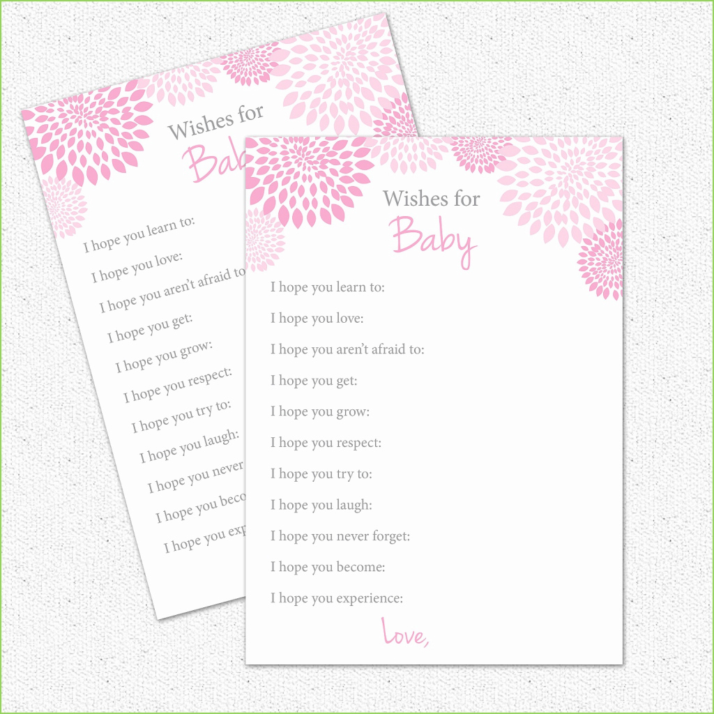 Cool Wishes For Baby Shower Game Best Of Wishes For Baby Shower Game Easy pertaining to Free Baby Shower Game Templates