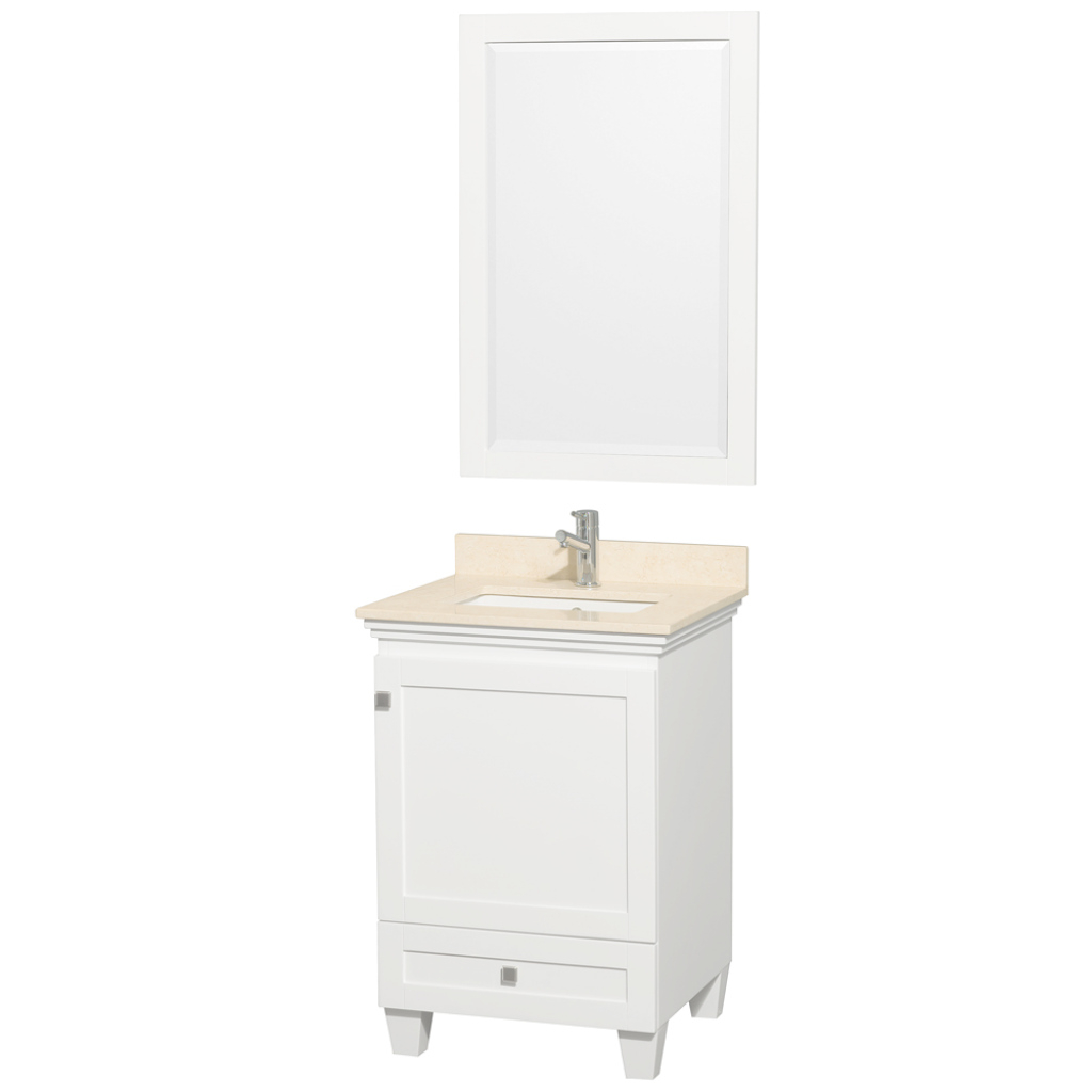 Cool Wyndham Collection 24 Inch Single Bathroom Vanity In White, Ivory in Luxury 24 Inch White Bathroom Vanity