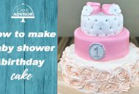 Elite 1St Birthday Cake, Baby Shower Cake For Girls Tutorial+Recipe throughout New Baby Shower Cake Recipes