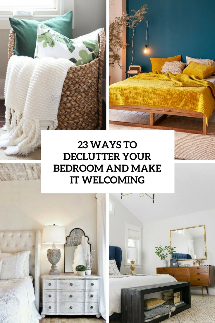 Elite 23 Ways To Declutter Your Bedroom And Make It Welcoming - Digsdigs regarding Unique How To Declutter Your Bedroom