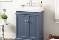 "Elite 24"" Lander Vanity Cabinet Blue Bathroom – Avaz International for High Quality Blue Bathroom Vanity Cabinet"
