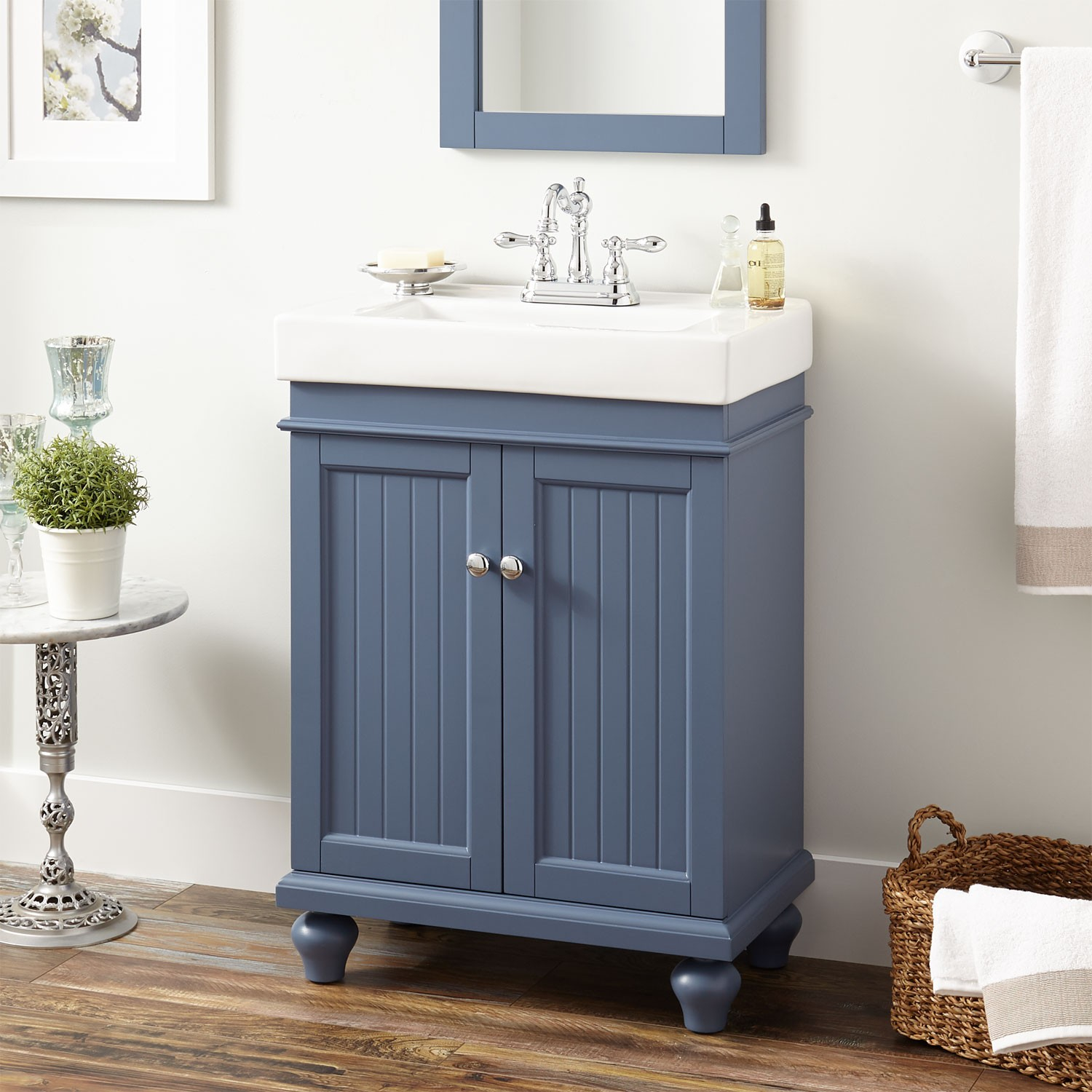 "Elite 24"" Lander Vanity Cabinet Blue Bathroom - Avaz International for High Quality Blue Bathroom Vanity Cabinet"