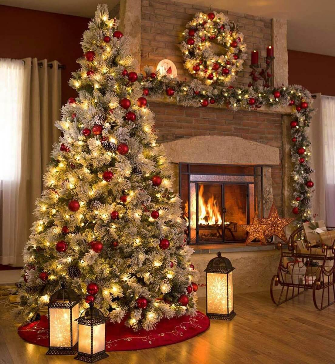 Elite 32 Best Christmas Living Room Decor Ideas And Designs For 2018 intended for New Christmas Living Room