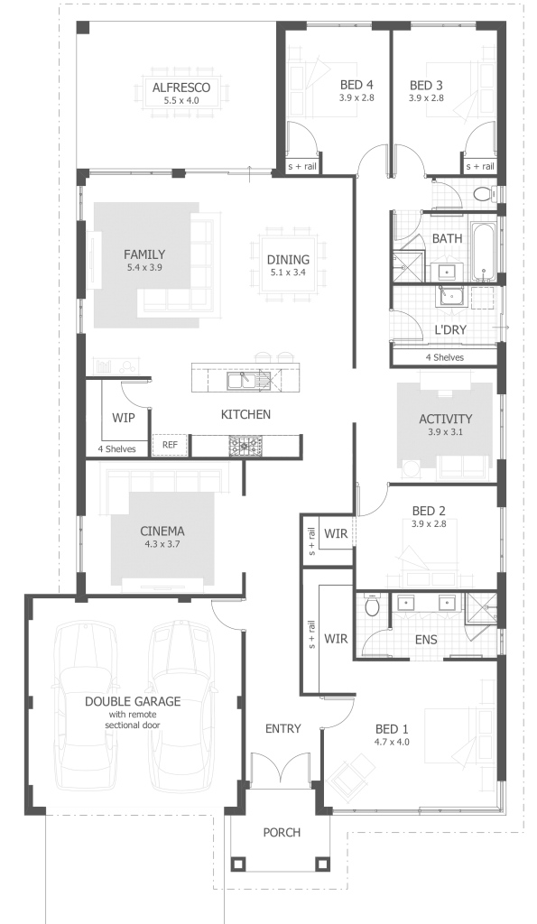 Elite 4 Bedroom House Plans & Home Designs | Celebration Homes with House Design Plans