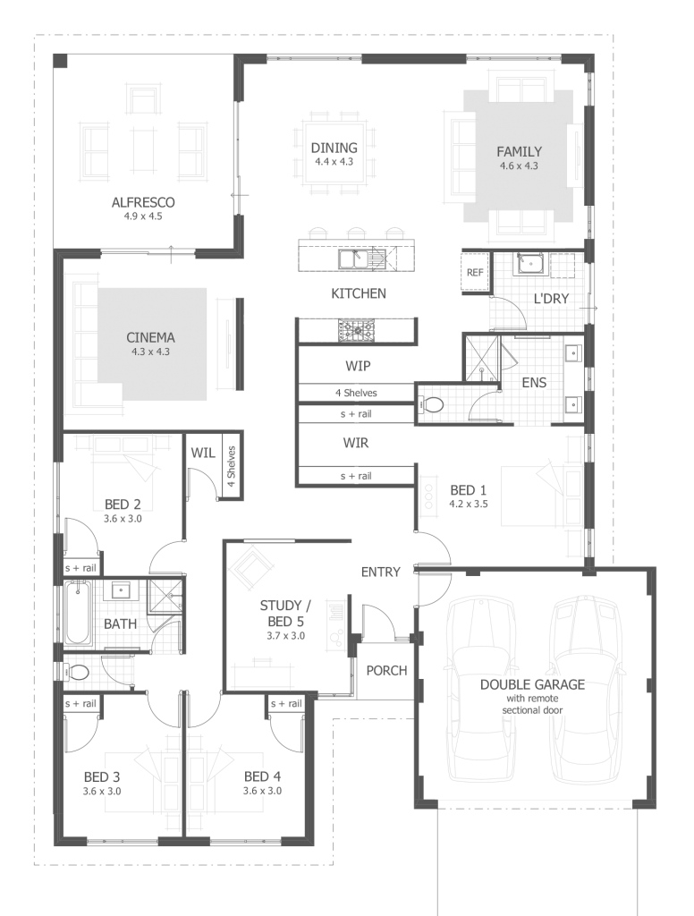 Elite 4 Bedroom House Plans & Home Designs | Celebration Homes within Unique House Design Plans