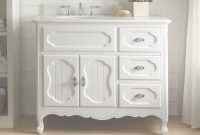 "Elite 42"" Benton Collection Victorian Cottage Style White Knoxville with regard to Country Bathroom Vanities"