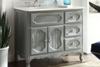 Elite 42 Inch Bathroom Vanity Grey Cottage Beach Style Victorian Gray (42 throughout 42 In Bathroom Vanity