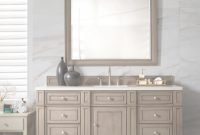 Elite 60 Inch Single Sink Bathroom Vanity Whitewashed Walnut Finish with Elegant Bathroom Vanity 60 Single Sink