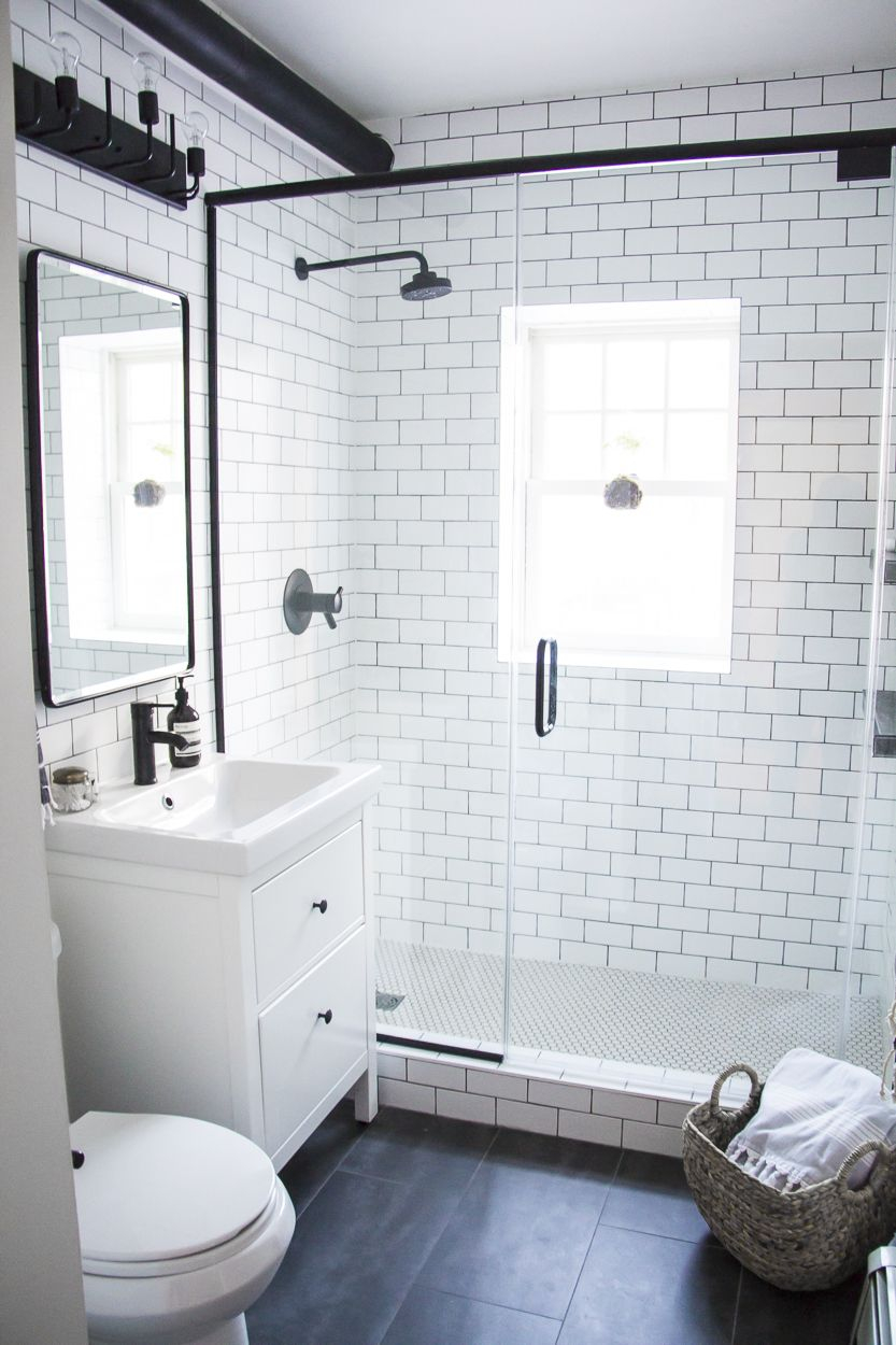 Elite A Modern Meets Traditional Black And White Bathroom Makeover pertaining to Good quality Vintage Black And White Bathroom Ideas