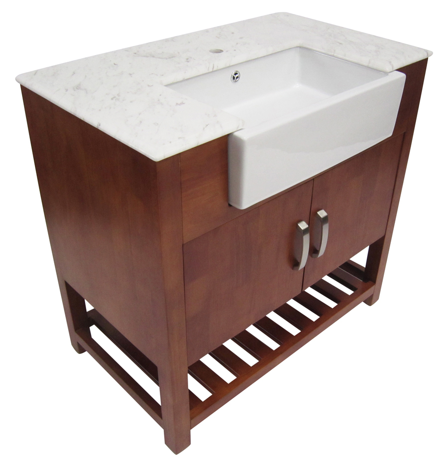 Elite Alfi 36 Inch Golden Oak Single Sink Bathroom Vanity Marble Top throughout Awesome 36 In Bathroom Vanity With Top