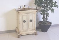 Elite Antique 28 Inch Small Ivory Antique White Bathroom Vanity pertaining to Bathroom Vanities Small