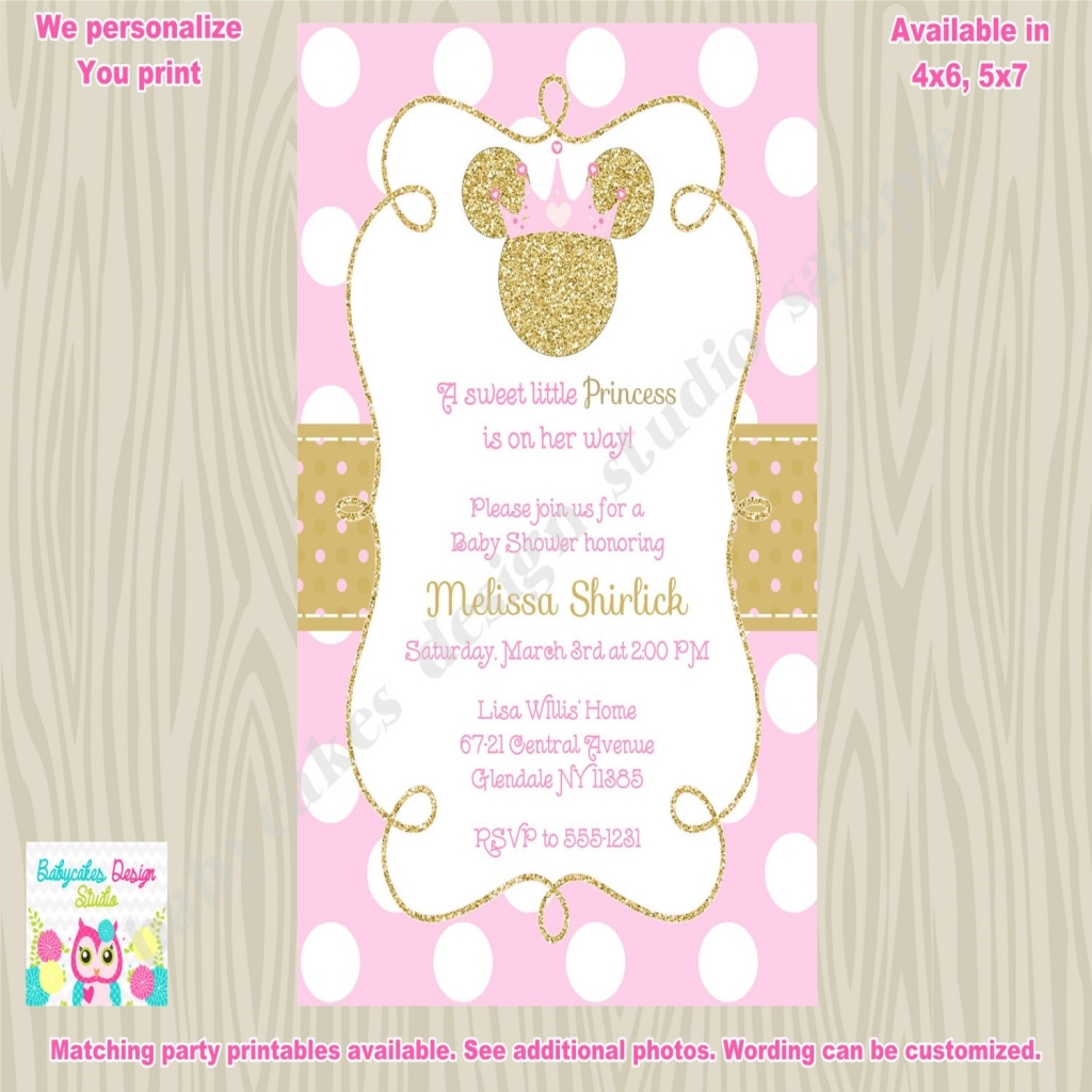 Elite Ba Shower Minnie Mouse Ba Shower Invitations Pcslot Minnie with Review Minnie Mouse Baby Shower Invitations