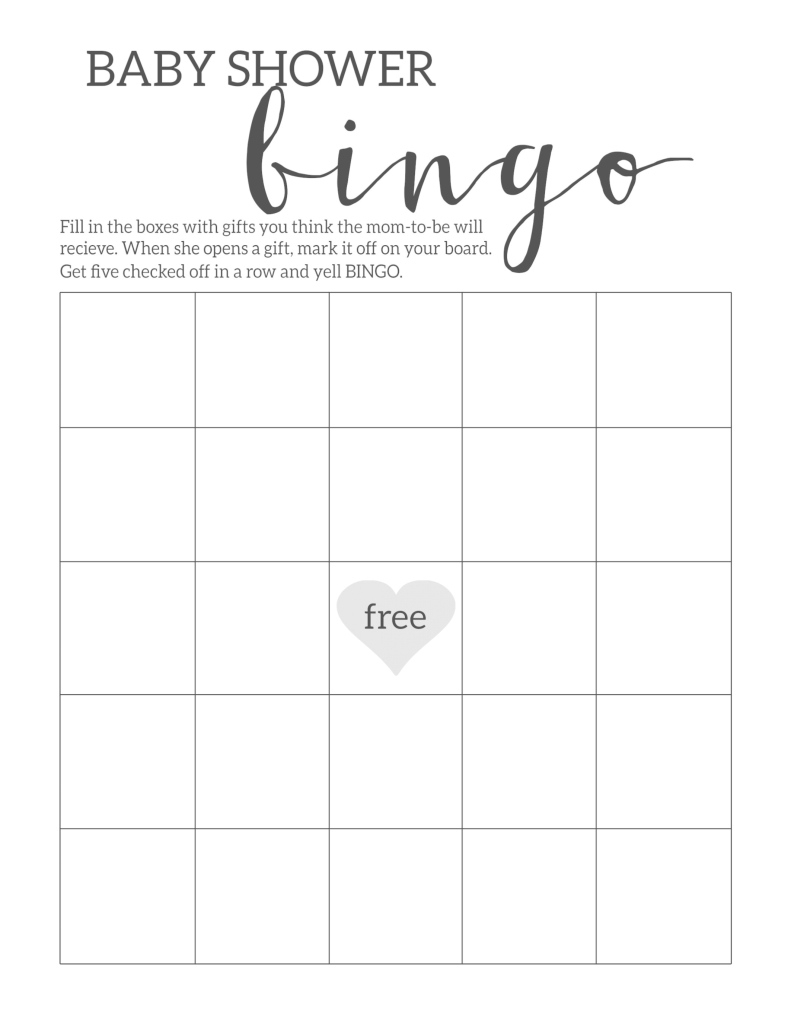 Elite Baby Shower Bingo Printable Cards Template - Paper Trail Design in Inspirational Free Baby Shower Game Templates