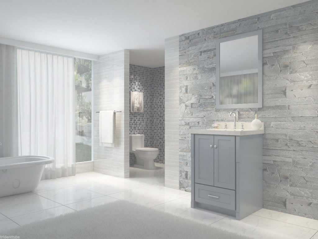 Elite Bathroom : Light Blue And Gray Bathroom Elegant Bathroom Design in Blue And Gray Bathroom