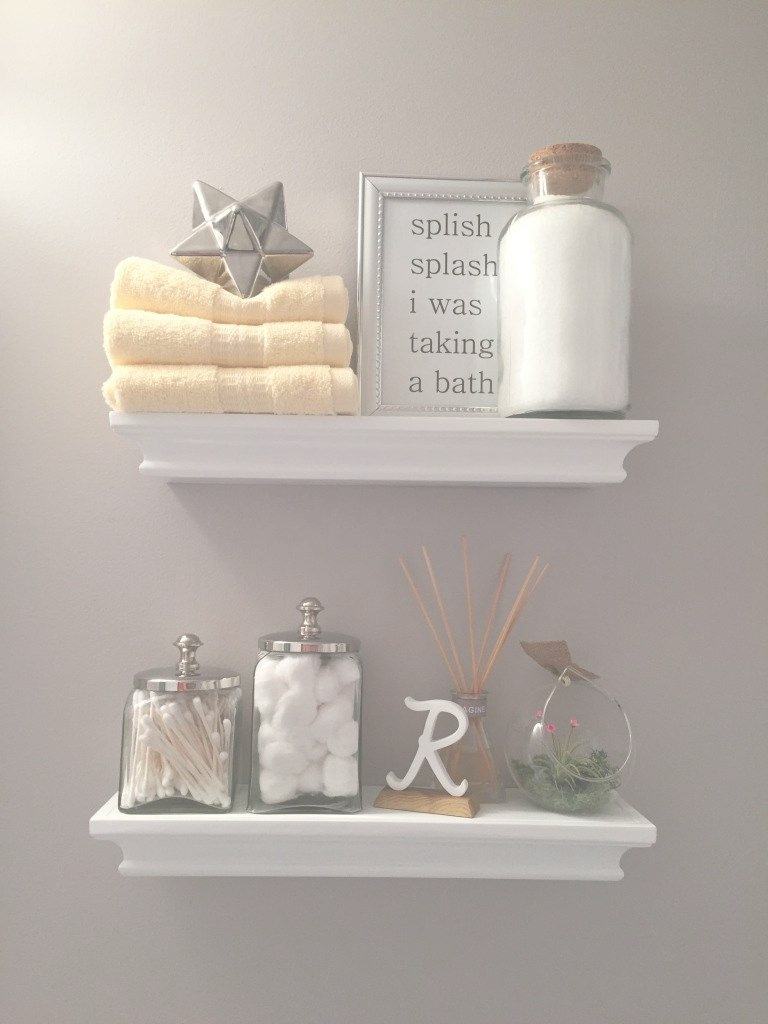 Elite Bathroom Shelf Decor | Our Bathroom | Pinterest | Bathroom Shelf regarding Bathroom Shelf Decorating Ideas
