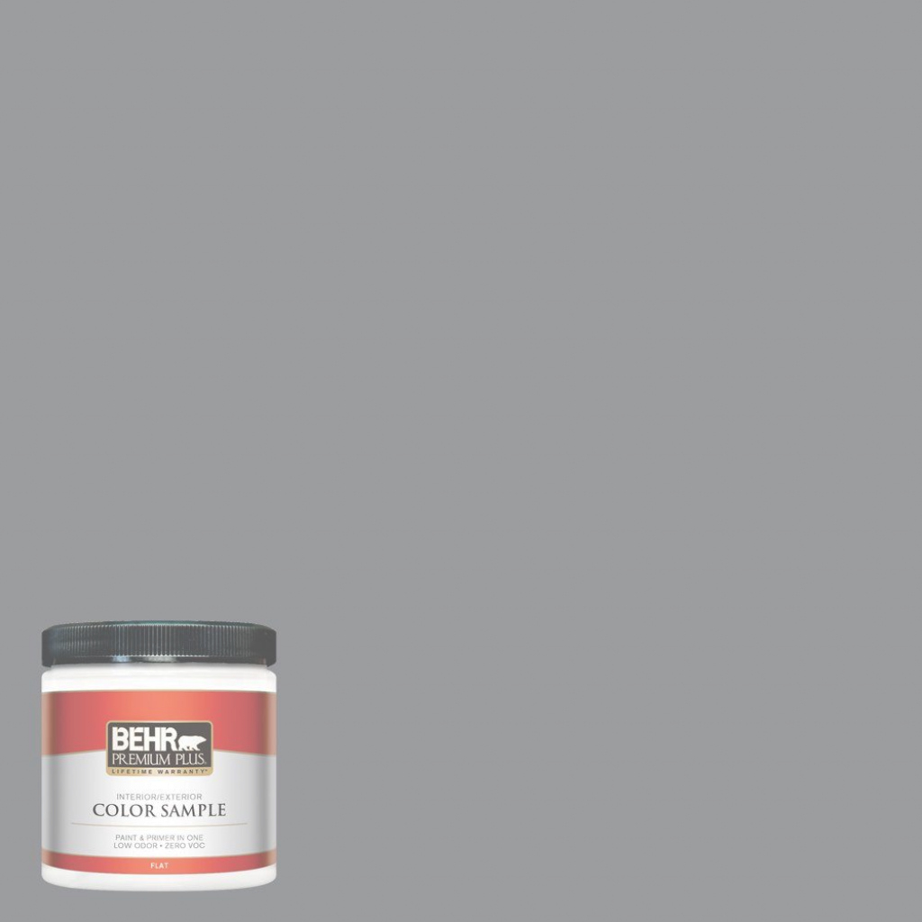 Elite Behr Premium Plus 8 Oz. #ppf-49 Platinum Gray Flat Interior/exterior within Behr Paint Colors Gray