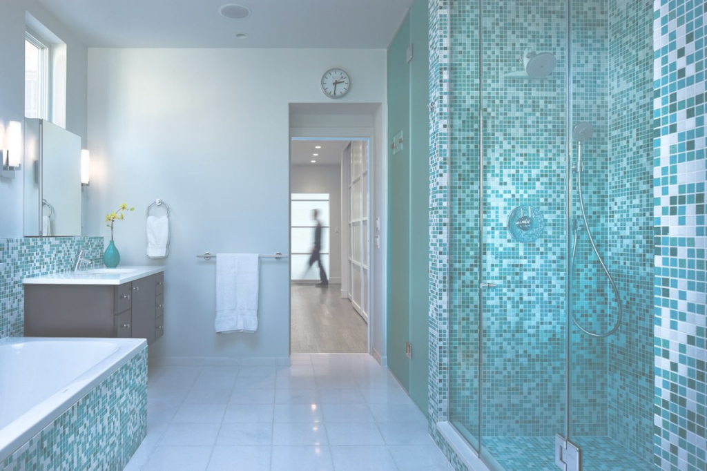 Elite Blue Glass Tile Bathroom - Behave2012 regarding Blue Bathroom Mosaic Tiles
