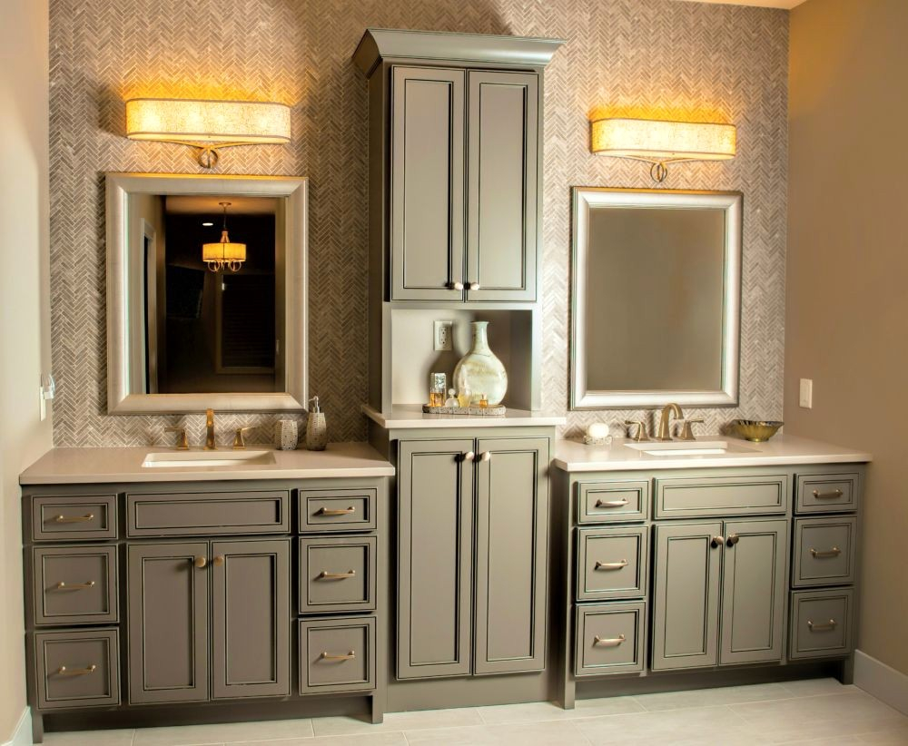 Elite Cabinet Masters Elegant Contemporary Master Bathroom Vanity regarding High Quality Master Bathroom Vanity