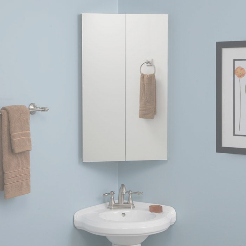 Elite Camargo Stainless Steel Corner Medicine Cabinet - Bathroom regarding Bathroom Mirror With Cabinet