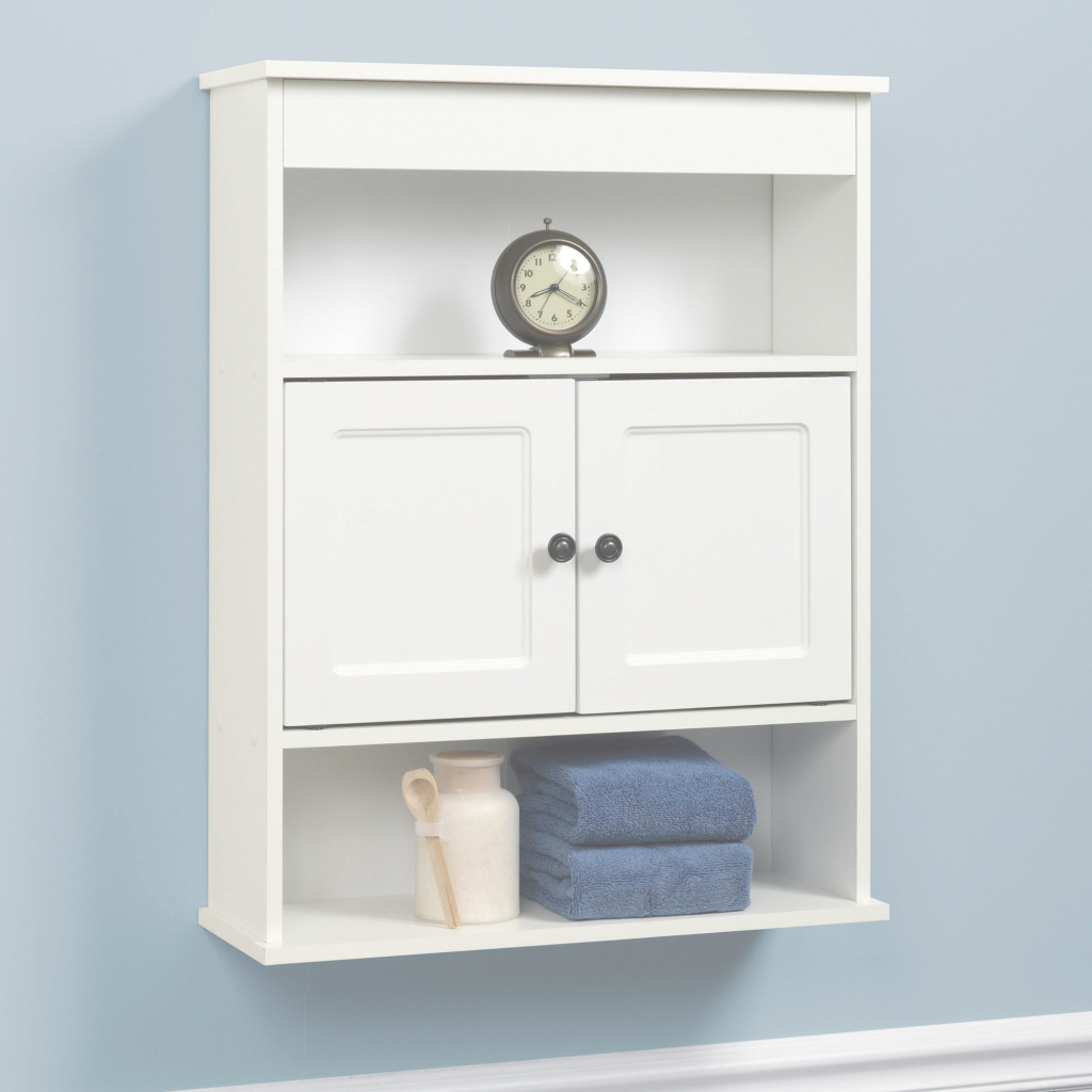 Elite Chapter Bathroom Wall Cabinet, White - Walmart within Wall Bathroom Cabinets
