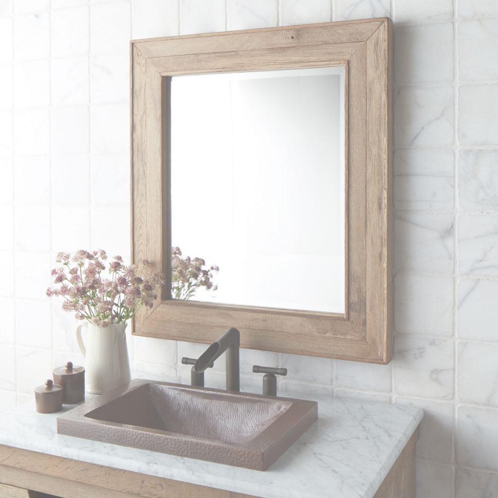 Elite Chardonnay 29-Inch Weathered Oak Rectangular Mirror Mr131 | Native with regard to Weathered Wood Bathroom Vanity