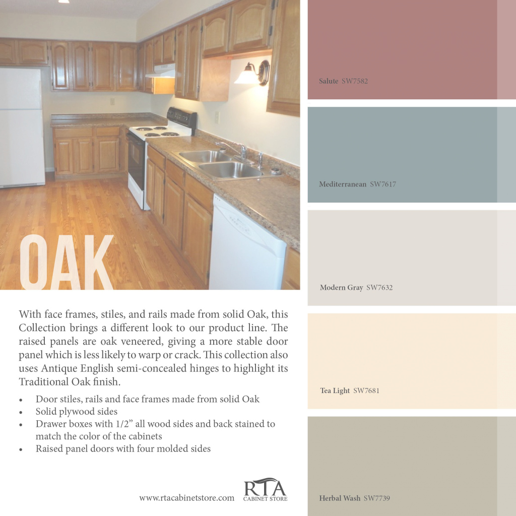 Elite Color Palette To Go With Oak Kitchen Cabinet Line- For Those With pertaining to Kitchen Color Ideas With Oak Cabinets
