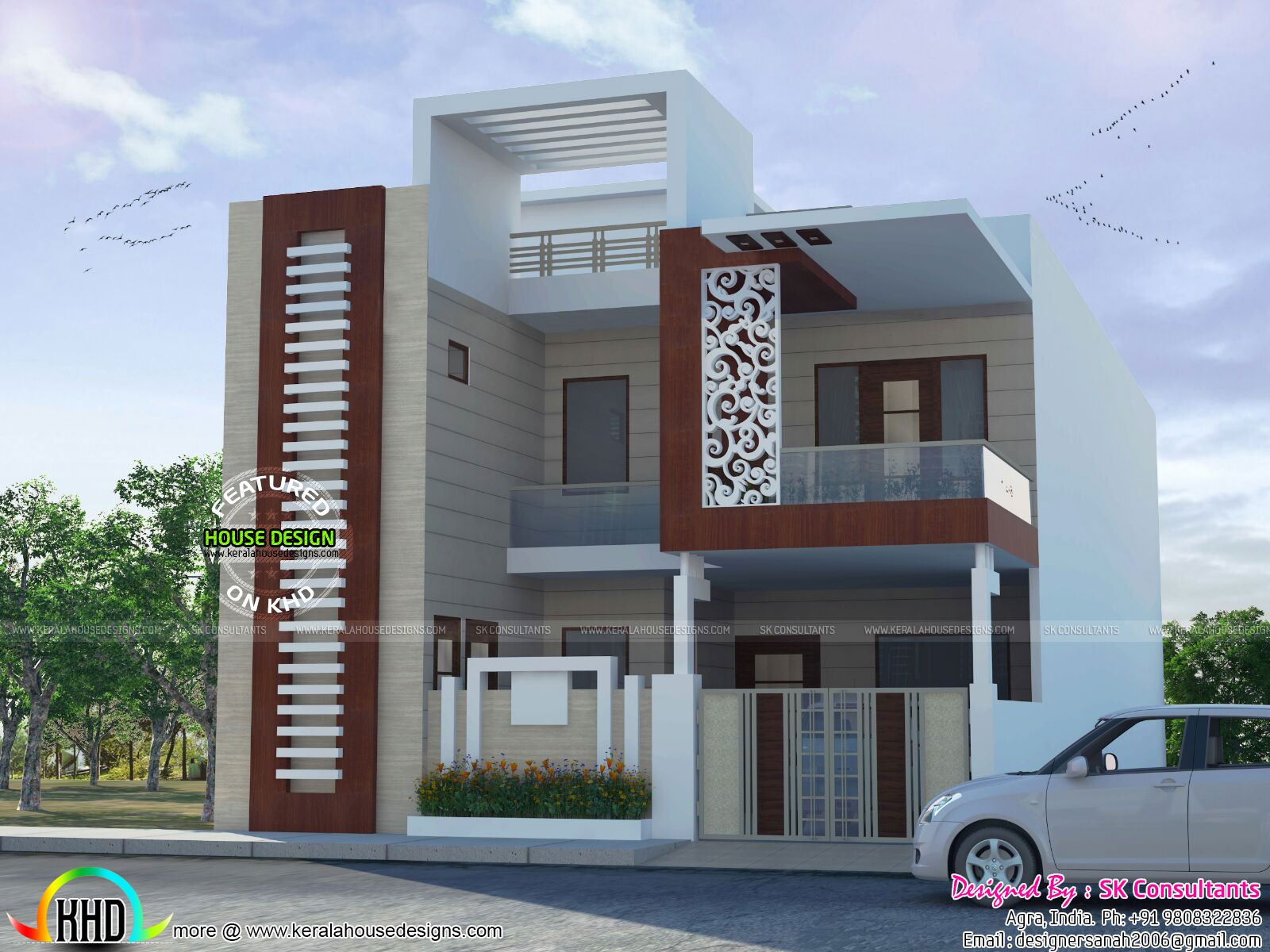 Elite Decorative House Plansk Consultants - Kerala Home Design And within Awesome Indian Home Exterior Design