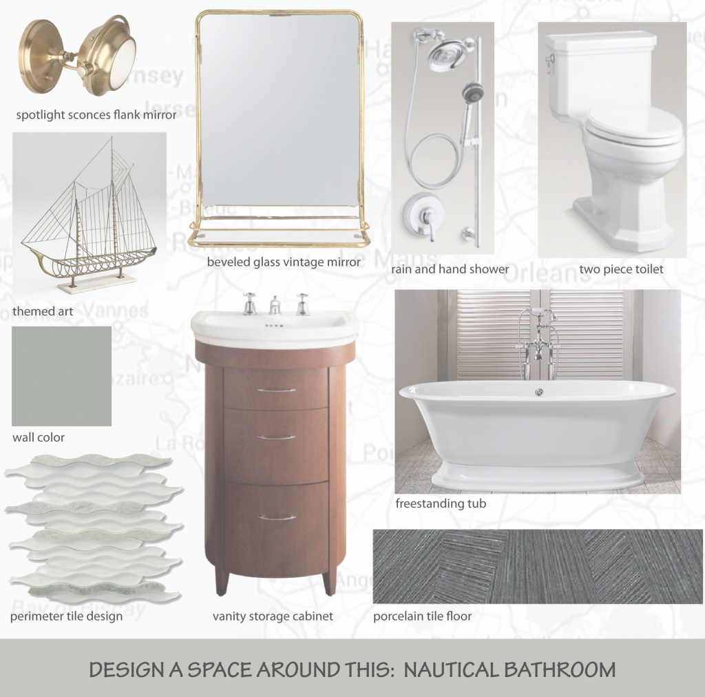 Elite Design A Space Around This: Nautical Bathroom | J Parker Mccollum in Nautical Mirror Bathroom