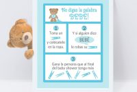 Elite Dont Say Baby Spanish – Baby Shower Game – Size 8 X 10 – 3 Different with regard to How Do You Say Baby Shower In Spanish