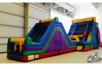 Elite Dourable Outdoor Backyard Inflatable Obstacle Course Challenge Party throughout Backyard Inflatables