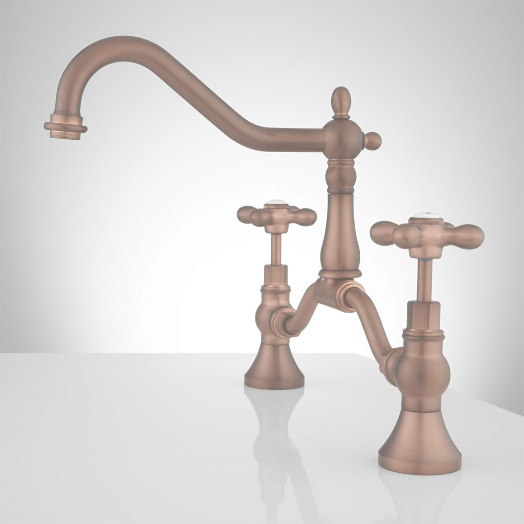 Elite Elnora Bridge Bathroom Faucet - Cross Handles - Bathroom throughout New Copper Faucet Bathroom