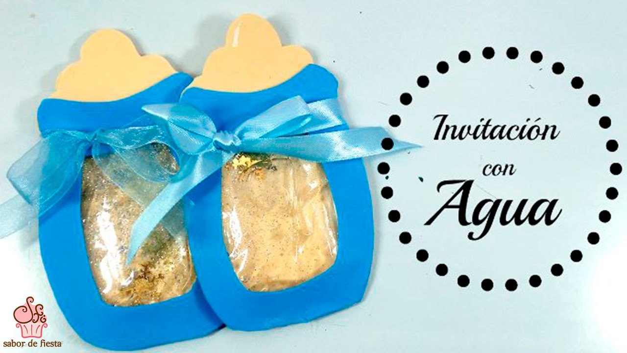 Elite ?invitación Con Agua Para Baby Shower Y 1º Año ? Sabor De Fiesta with regard to Review Invitaciones Para Baby Shower De Niño