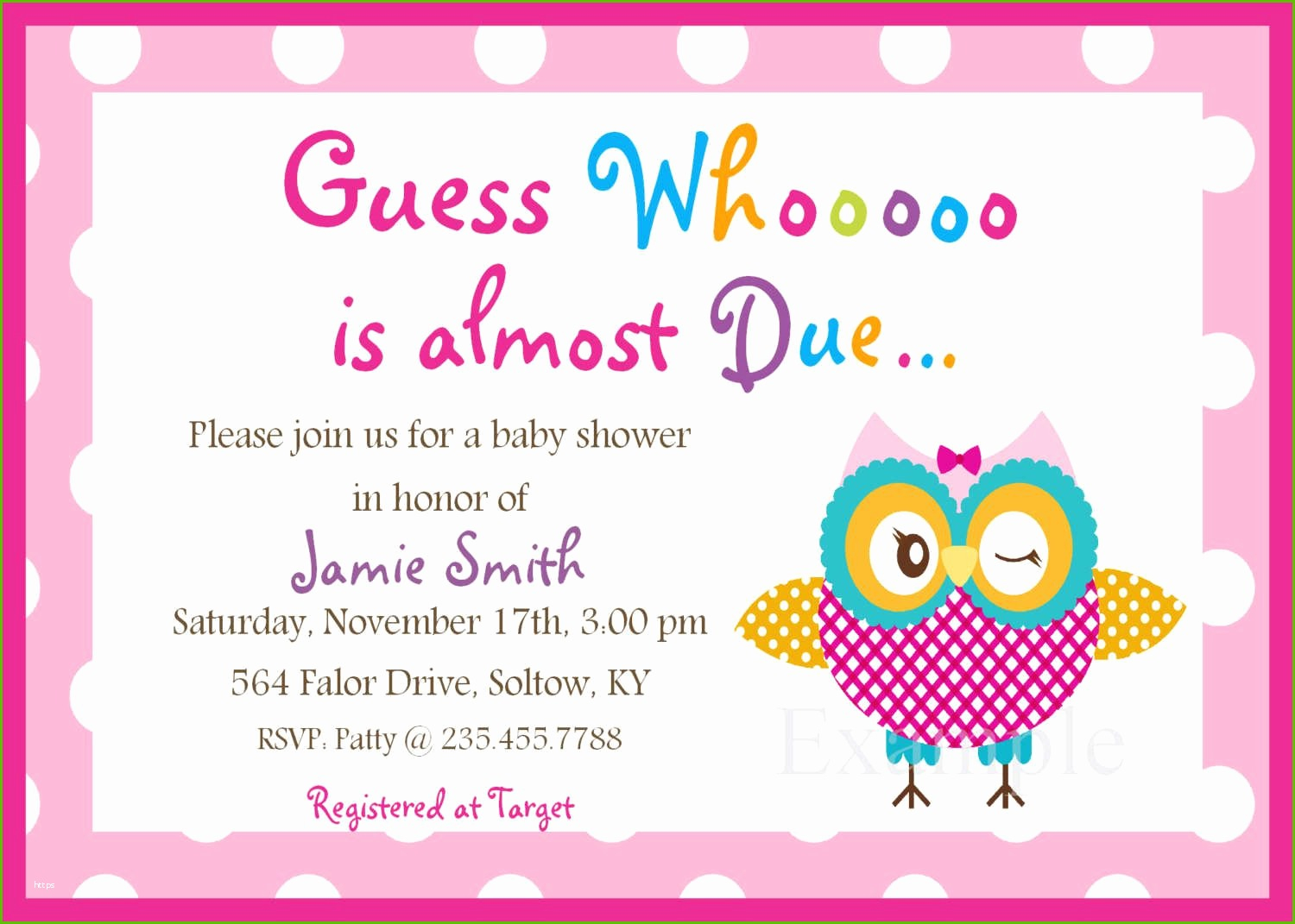 Elite Free Baby Shower Registry Cards Template Best Baby Shower for Free Baby Shower Invitations