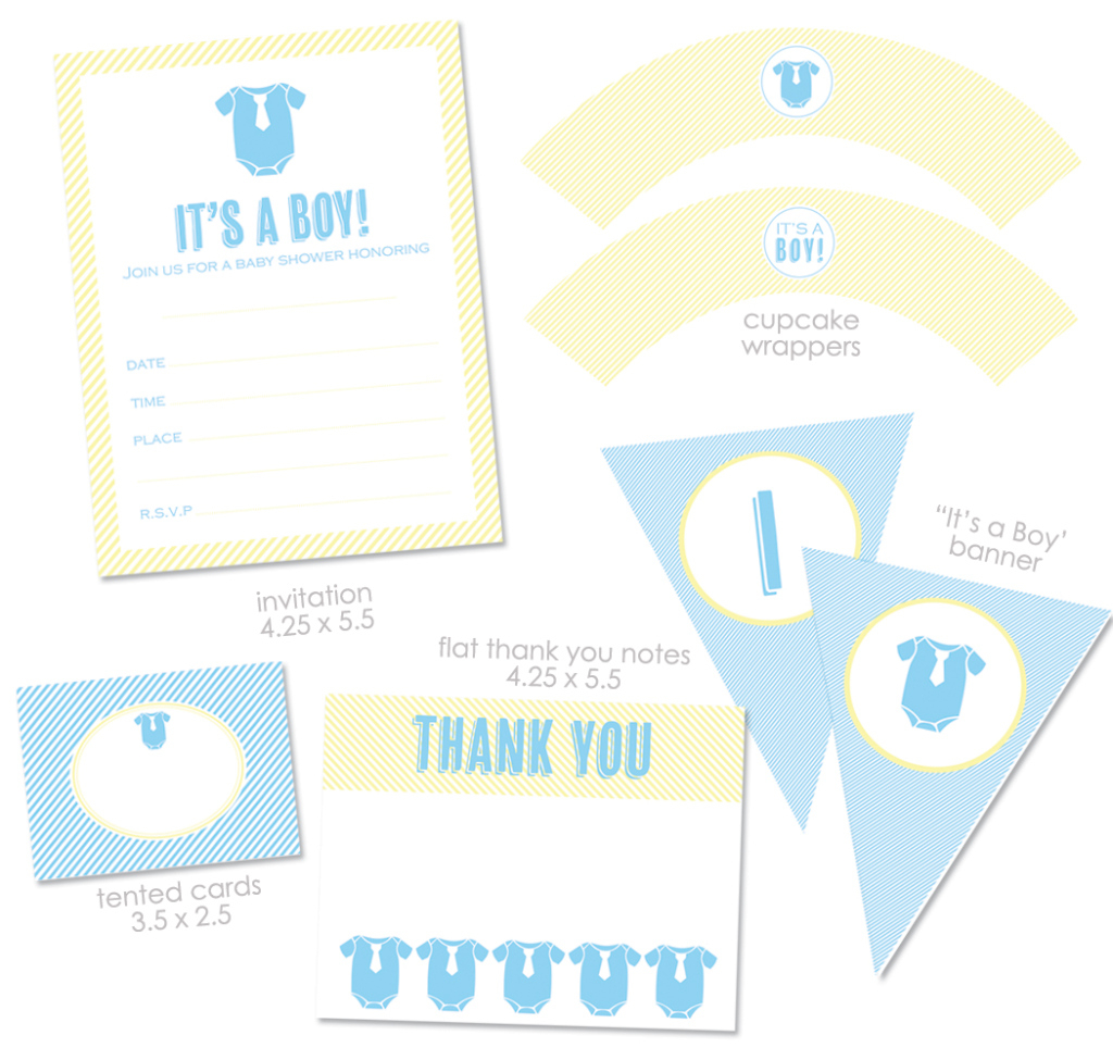 "Elite Free ""it's A Boy"" Baby Shower Printables From Green Apple Paperie throughout Baby Shower Its A Boy"