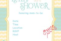 Elite Free Printable Baby Shower Invitations – Baby Shower Ideas – Themes in Baby Shower Templates Free