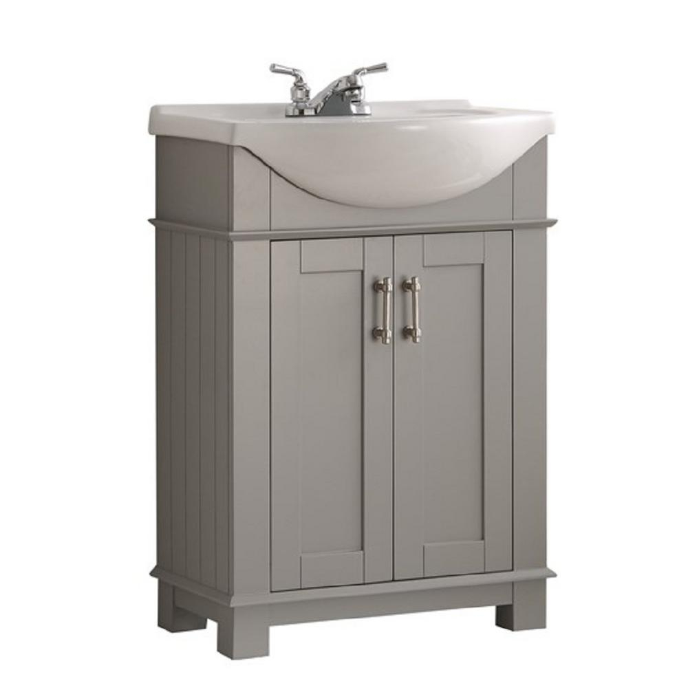 Elite Fresca Hudson 24 In. W Traditional Bathroom Vanity In Gray With intended for Awesome Traditional Bathroom Vanity