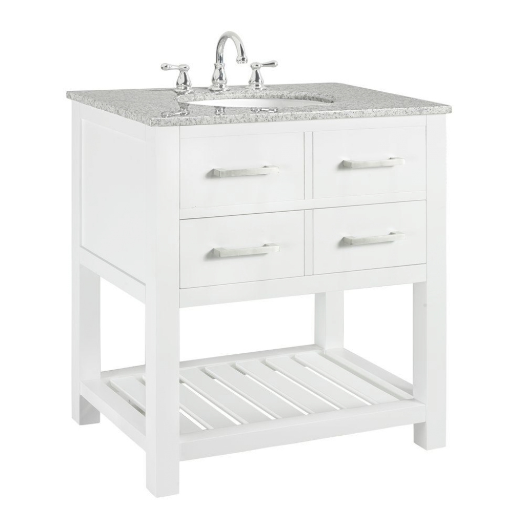 Elite Home Decorators Collection Fraser 31 In. W X 21.5 In. D Bath Vanity pertaining to White Bathroom Vanity Home Depot