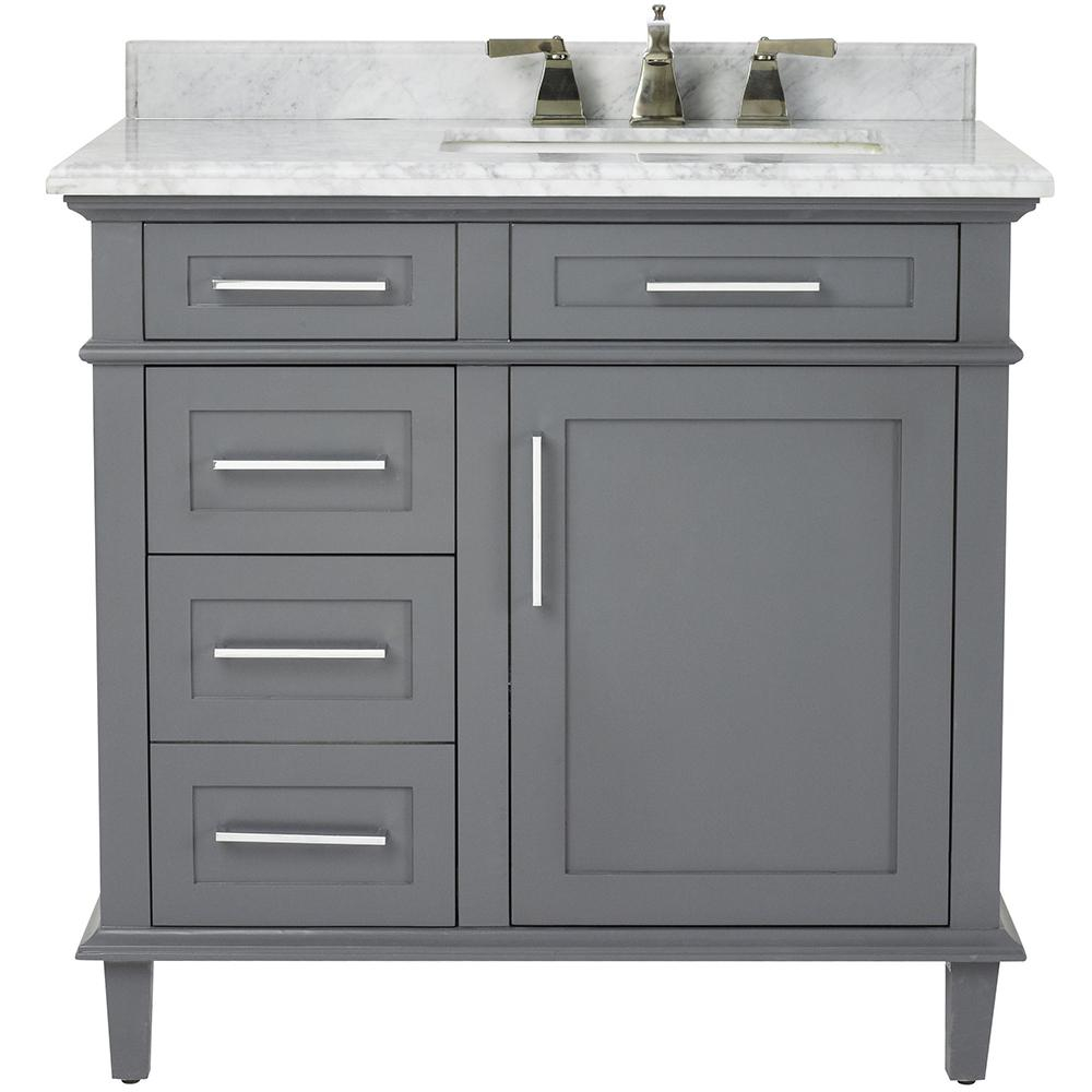 Elite Home Decorators Collection Sonoma 36 In. W X 22 In. D Bath Vanity In with Awesome 36 In Bathroom Vanity With Top