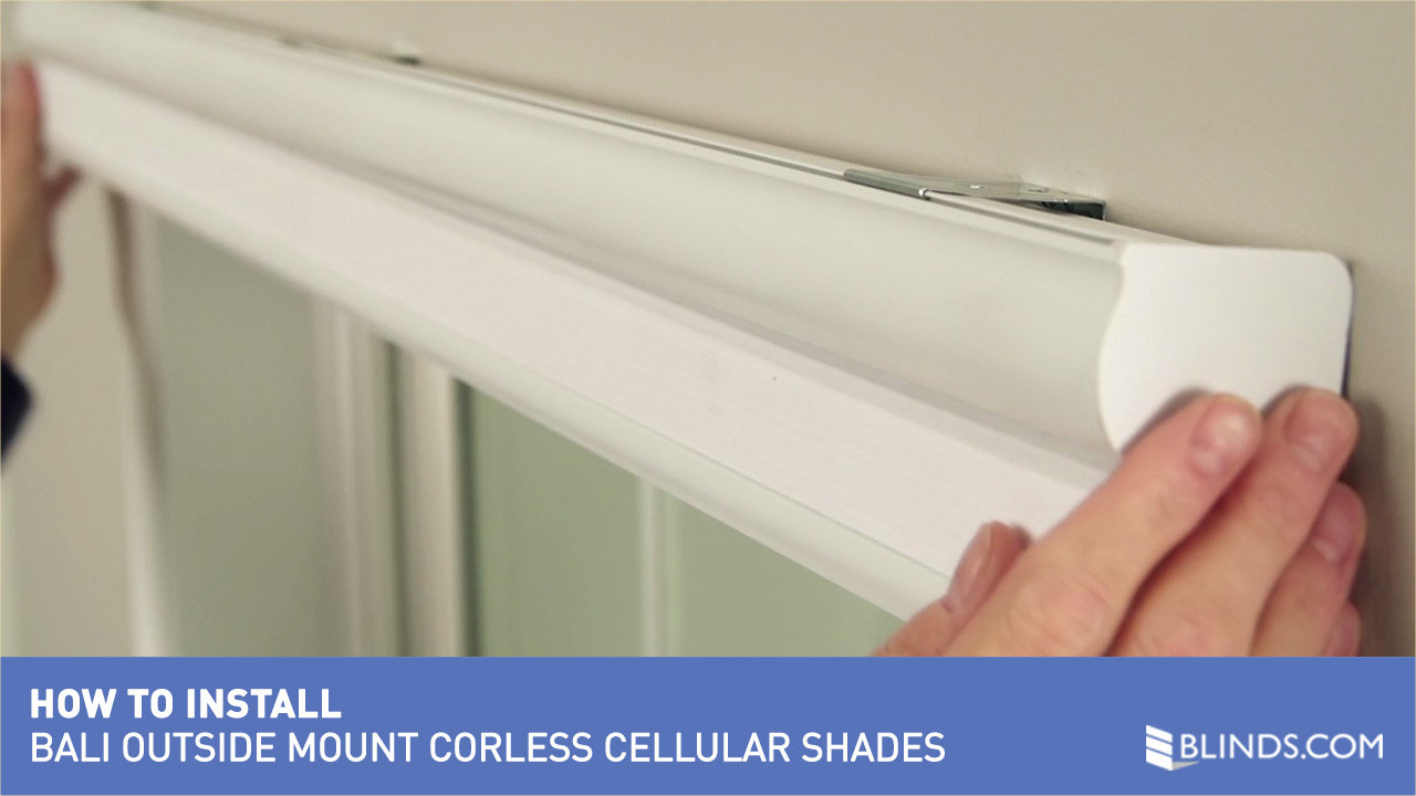 Elite How To Install Bali Cordless Cellular Shades - Outside Mount &raquo intended for Set How To Remove Blinds From Window