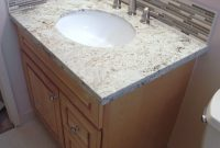 Elite How To Install Vanity,granite Top,stone Glass Backsplash& Schluter with regard to How To Install Stone Backsplash