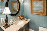 Elite How To Make A Small Bathroom Look Bigger – Tips And Ideas inside Oval Room Blue Bathroom