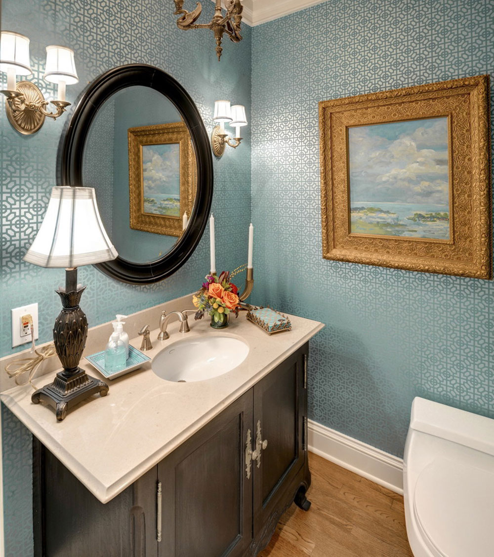Elite How To Make A Small Bathroom Look Bigger - Tips And Ideas inside Oval Room Blue Bathroom