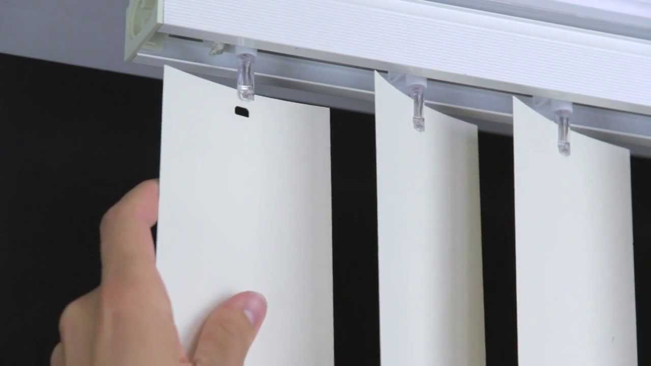 Elite How To Remove And Install Vertical Blind Vanes - Youtube throughout Set How To Remove Blinds From Window
