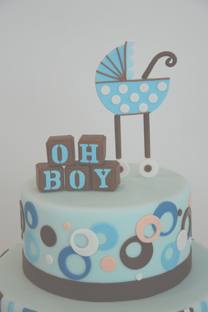 "Elite Idea For Cake Top ""oh Boy"" Blocks In Colors Of Cake 