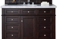 Elite James Martin Signature Vanities Brittany 48 In. W Single Vanity In pertaining to Inspirational Bathroom Vanity No Sink